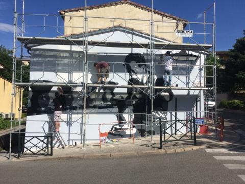 Mise en valeur de l'identité patrimoniale de Dieulefit : Fresque murale